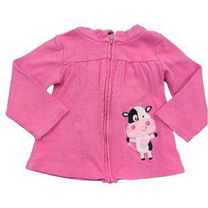 🍒3/$20🍒 PEKKLE Pink Cow Sweater w/ Hood Ears 18m
